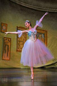 Ballet dancing ballerina in the nutcraker