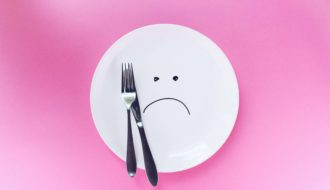 Empty plate with a frown.