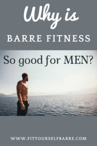 Barre fitness-a fit healthy man in black shorts