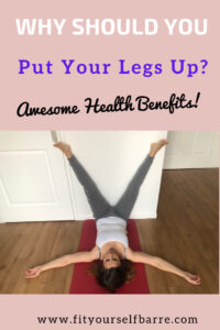 woman doing the legs up the wall stretch