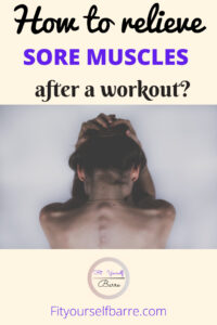 Relieve sore muscles-woman in pain