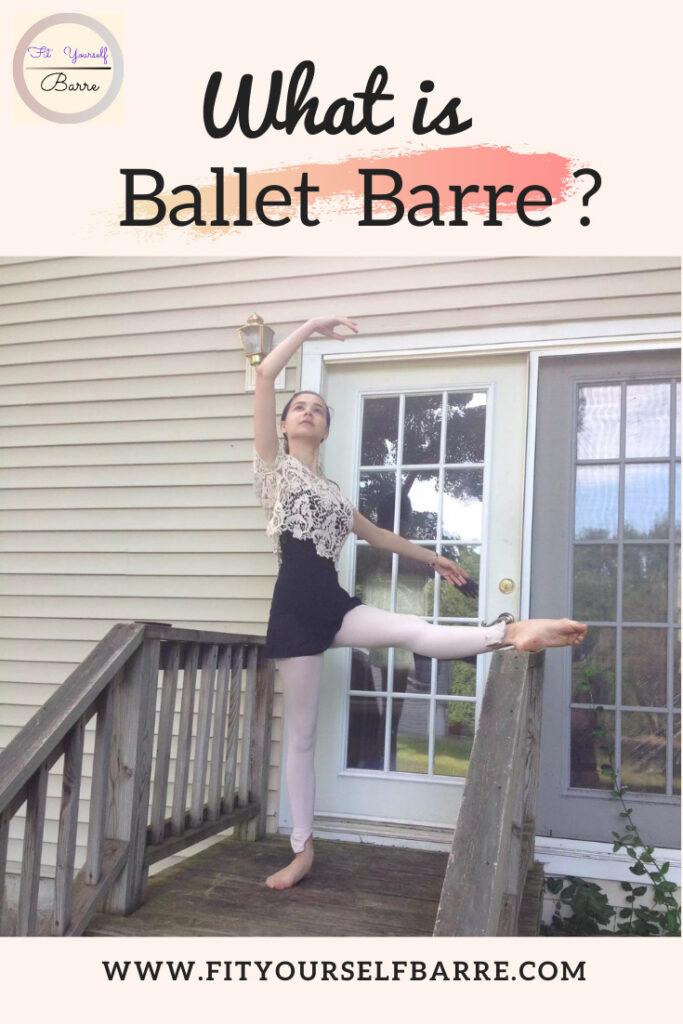 A young ballerina dancer