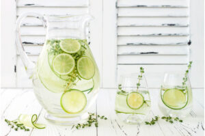 Immunity boost-cucumber infused hydrating water