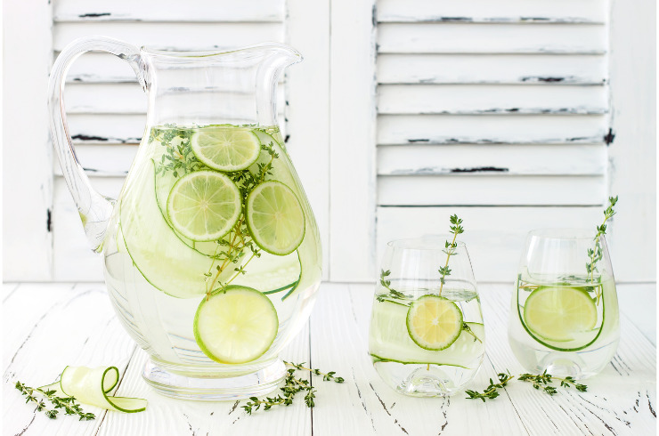 Immune system-cucumber infused hydrating water