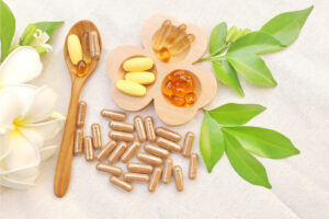 Immunity boost-herbal supplements and vitamins