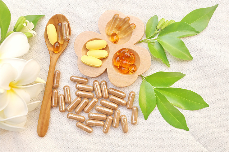 Immune system-herbal supplements and vitamins
