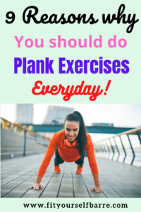 benefits doing planks daily-a woman doing a high plank